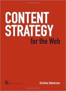 Content Strategy for the Web by Kristina Halvorson book cover
